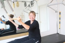 Happy Pilates Client